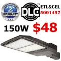dimmable conduziu o UL DLC da luz de rua 100W do bulbo 5 anos de alojamento da prata da garantia