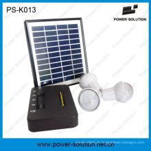 Sistema portátil de energia solar doméstica de bateria Li-ion com 3 lâmpadas