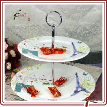 New Cheap Wholesale Ceramic Porcelain Tableware Dinnerware Cake Plate