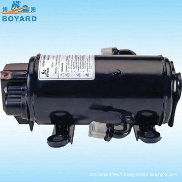 HVAC énergie solaire R134A DC 12v/24v/72v vitesse variable compresseur pour EV RV camion sleeper cab tracteur élévateur