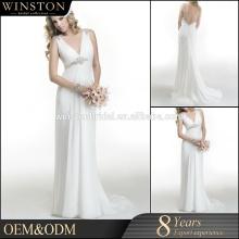 Hot Sale Factory Custom Chiffon dress 2016 latest bridal wedding gowns