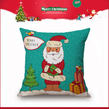 wholesale holiday style santa clause square decorative pillow for Christmas