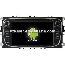Leitor de dvd do carro do sistema de Android para FORD Mondeo com GPS, Bluetooth, 3G, iPod, jogos, zona dupla, controle de volante