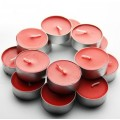 plain scented tealight candle with aluminium Shell