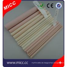 MICC 90 95 99 99,7% 99,8% al2o3 porösen Aluminiumoxid Keramikrohr mit Neupreis