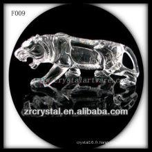 Tigre sculpté à la main en cristal K9