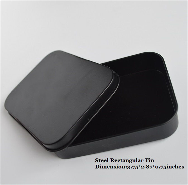 Wholesale Black Small Metal Cigarette Tin Box