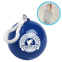 Poncho imperméable jetable imperméable de PE dans la boule