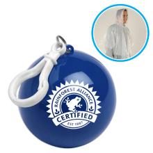Poncho impermeable impermeable del impermeable del PE en bola