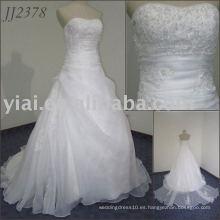 Vestido de boda nupcial barato del estilo 2011 del envío del diseño de la alta calidad de la alta calidad encantadora encantadora libre del amor 2011 JJ2378