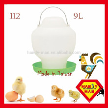 Durable Plastic High Quality Largr Chicken Drinker Crown 112 Plastic Feeder 9L Ball Type Drinker