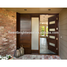 Gardon House Desgin Entry Wood Carding Door Design Malaysia Wood Door with Glass