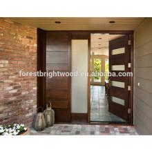 Porta de madeira de madeira da porta de Carding da entrada de Desgin da casa de Gardon com vidro