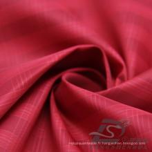Veste à manches résistant à l'eau et au vent en flan Tissé jacquard tissé 100% polyester tissu de fil d'île de mer (X041)