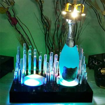 2016 Arbeitsplatte Clear Acryl Schrank Wein Display mit Licht