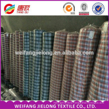 various polyester cotton yarn dyed shirt fabric stock New design Yarn Dyed Panama Cotton Fabric for shirt