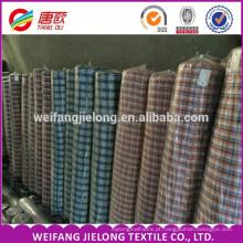 Vários fios de algodão de poliéster tingido tecido da camisa estoque Novo design de fios de algodão tingido Panamá Tecido para a camisa
