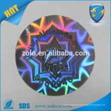 Conception personnalisée résistant à l'eau résiste aux hautes températures Autocollant d'hologramme à effet Hologramme 3D avec logo auto