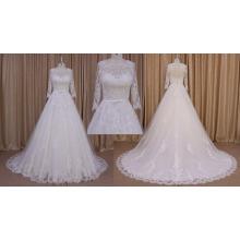 A-ligne dentelle manches longues 2016 robe de mariée