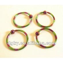 eyebrow jewelery Ball Closure Rings ball stretching rings