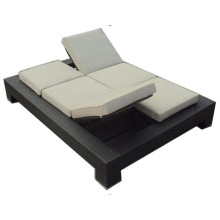 Double Folding Chairs Modern Chaise Sun Lounger
