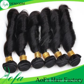 Trama não processada do cabelo do Virgin de Remy do cabelo humano da categoria 7A