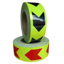 Verschiedenes Farbpfeil-Sicherheits-Produkt-reflektierendes Band für die Straßen-Warnung