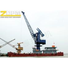 Schwimmkran Deck Marine Hafen