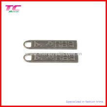Geprägte antike Nickel Metall Zipper Pull für Kleidungsstück Zubehör
