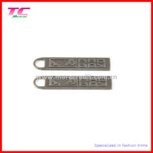 Embrulho Antique Nickel Metal Zipper Pull para acessório de vestuário