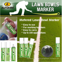Coloured Lawn Bowls Marker, Spray Chalk, Water Washable