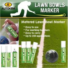 Colored Lawn Bowls marcador, spray de giz, água lavável