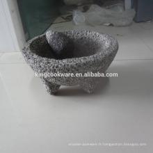 Outils pour fines herbes et épices granit molcajete 3
