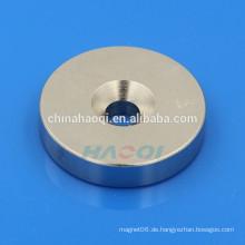 NdFeB NIB Neo ndfeb runder Magnet mit Loch in der Mitte