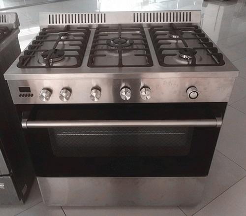 Natural gas 36 6 burner commercial stoveCountertop range kitchen
