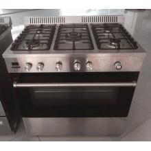 Equipo de cocina occidental Cocina de acero inoxidable Horno de gas