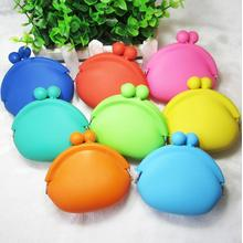 Dompet Silicone Coin Purse Round Bags Cute Candy Color