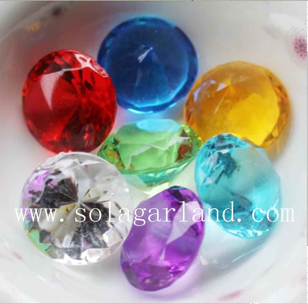 Acrylic Crystal Diamond Gems