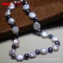 Collier de perles d'eau douce Baroque Coin naturel pour femmes