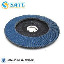disco azul flexível da aleta do óxido de zircónio para de aço inoxidável