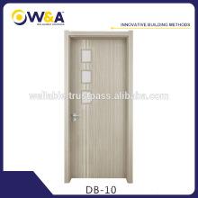 Impermeable Anti-Mildew madera compuesto compuesto de plástico Puerta Interior Fabricantes