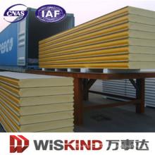 Material de construcción ignífugo EPS / PU / Panel de sándwich de lana mineral