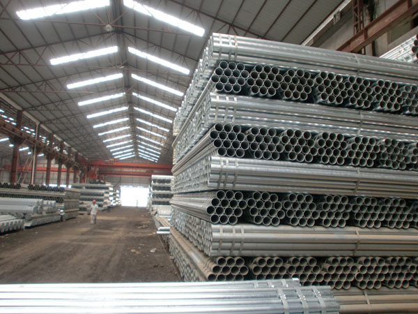 Galvanized steel pipe workshop