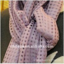 women spring winter grid cashmere/silk blend scarf wrap