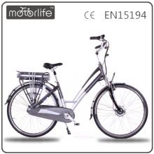 MOTORLIFE EN15194 2015 NUEVO ESTILO 250w 36v 700c nederland bicicleta eléctrica, ebike suspensión completa