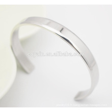 Meilleur prix Fashion Jewelry Manufacture Cuff Stainless Steel Charm Bracelet