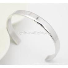 Melhor preço moda jóias fabricação punho aço inoxidável charme pulseira