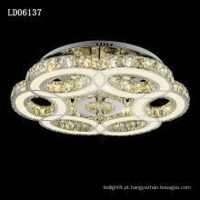 Lâmpadas conduzidas do teto do candelabro dos interruptores de luz da decoração do europeu