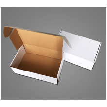 White mailing corrugated carton box packing