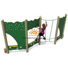 Cuerda de escalada doble paneles de madera con escalador